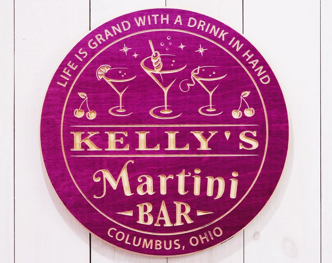 Personalized Martini Bar Sign