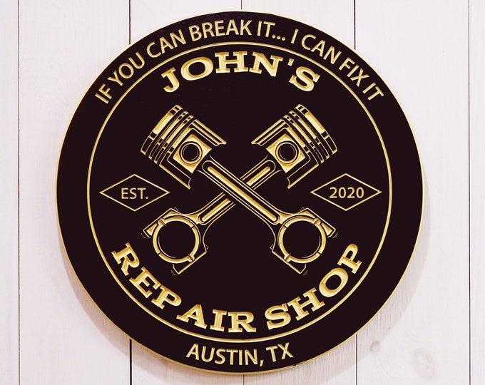 Personalized Garage Repair Sign