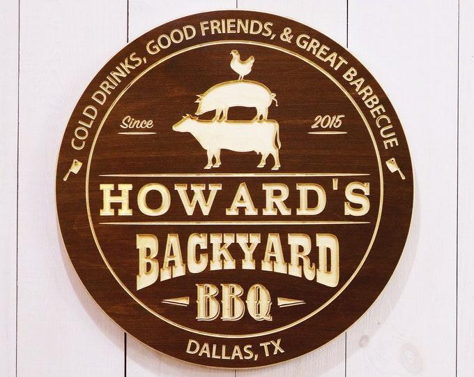 Personalized Backyard BBQ Sign