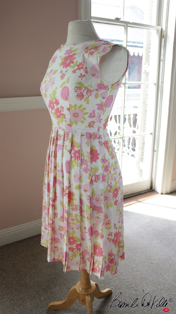 Floral 60s Day Dress