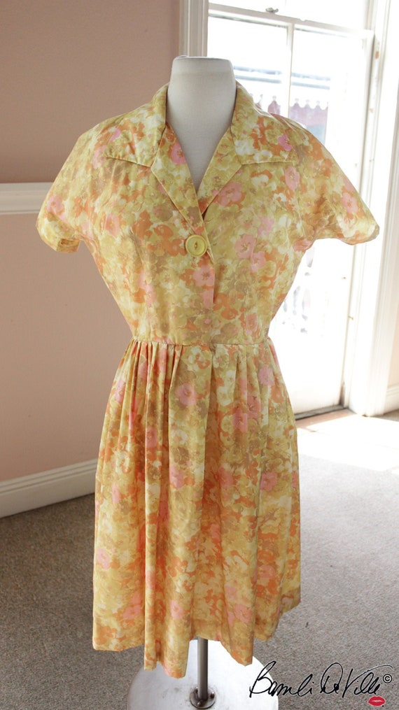 50s Floral Day Dress