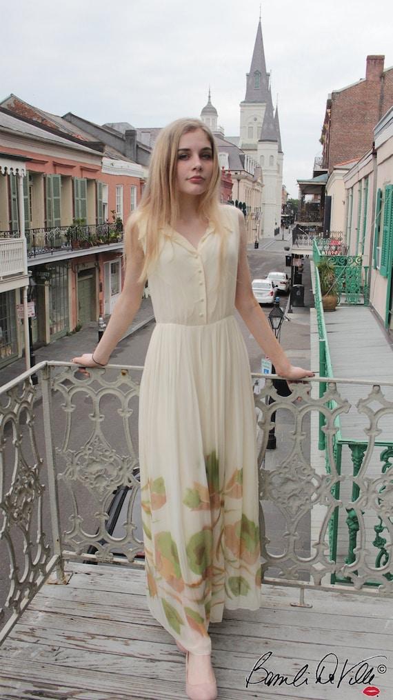 Vintage Chiffon Summer Dress