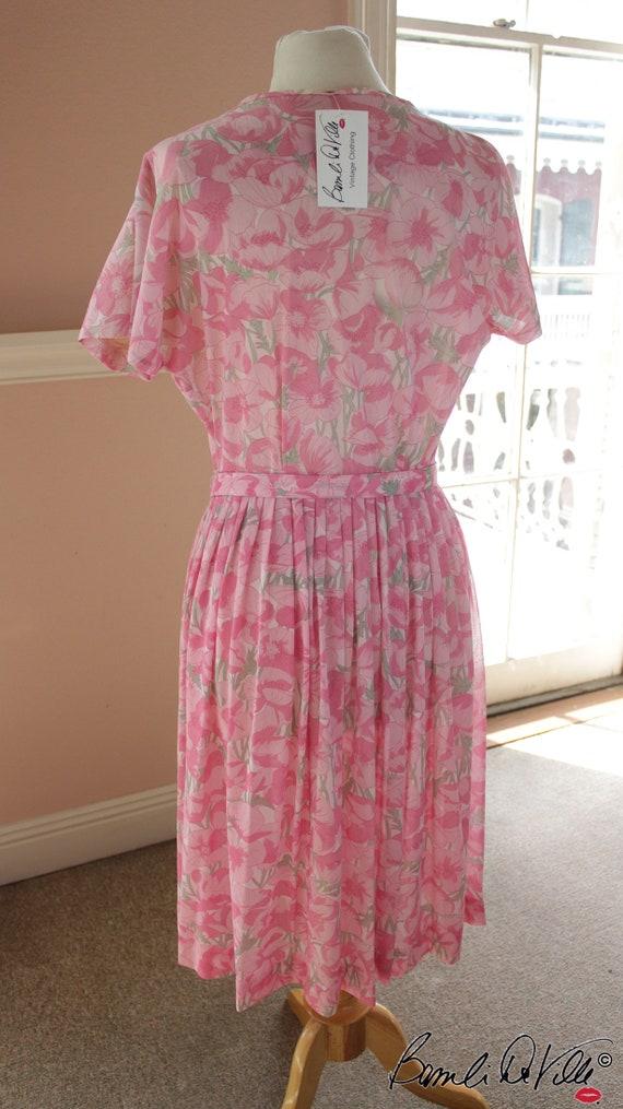 50s Day Dress Summer Floral - image 3