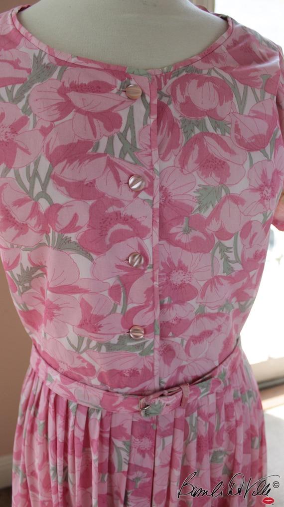 50s Day Dress Summer Floral - image 5
