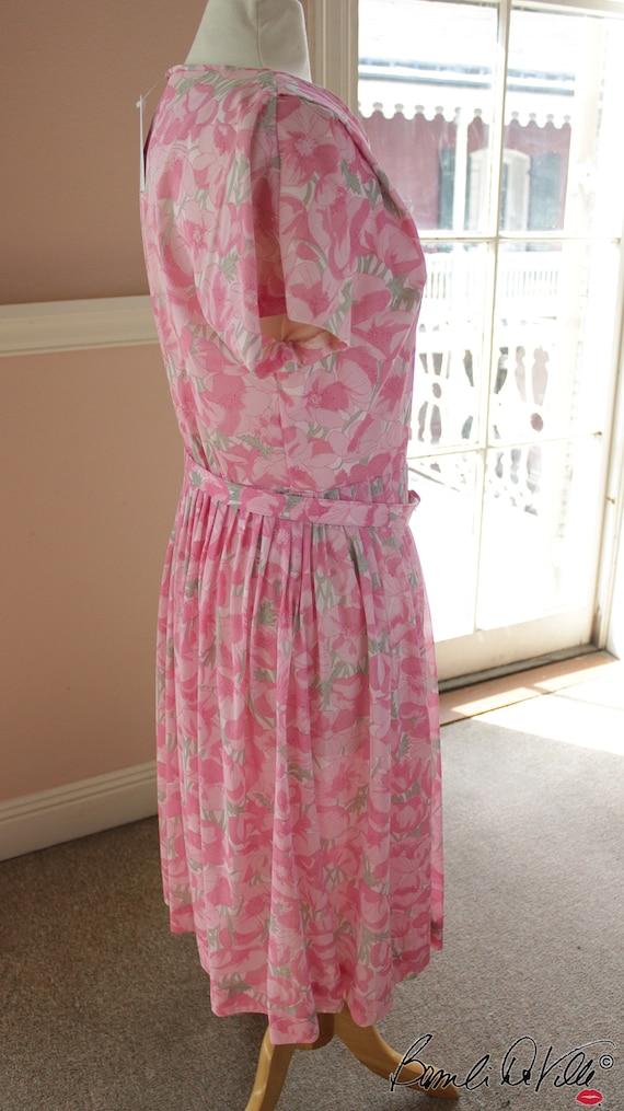 50s Day Dress Summer Floral - image 4