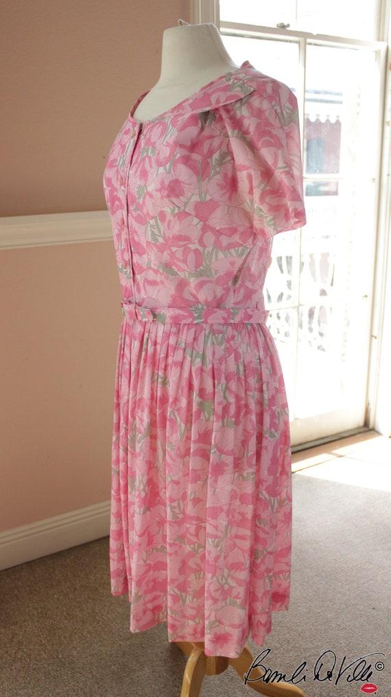 50s Day Dress Summer Floral - image 2
