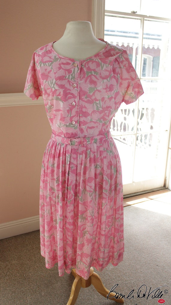 50s Day Dress Summer Floral