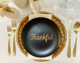 Thanksgiving place cards made from real wood | Custom names | Thankful | Grateful | Blessed