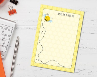 Swarming Bees Personalized 53 Page Note Pad