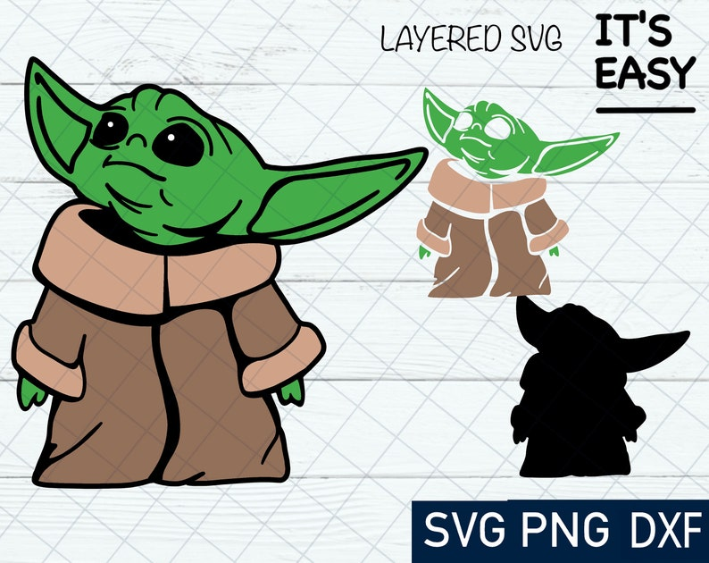 Download Baby Yoda SVG Cricut Silhouette Cut File Clipart SVG | Etsy