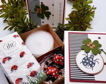 Gift box, voucher, packaging, lucky charm, congratulations, encouragement, Abitur, exam