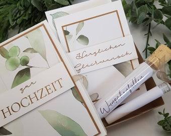 Money Gift Wedding, Money Gift, Gift Box, Wedding, Wedding, Voucher, Olive, Eucalyptus, Voucher Packaging