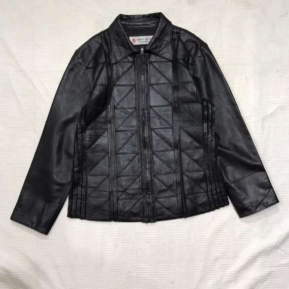 90S Hardy Amies Collection Leather Jacket
