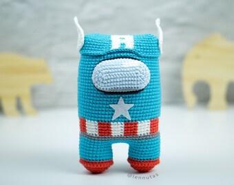 Captain Amigurumi Pattern [Astronaut Style] Crochet Pattern PDF File