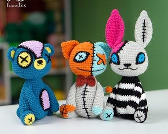 3 Crochet Halloween Creepy 360 Amigurumi Patterns PDF