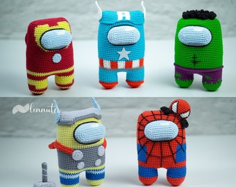 5 Superhero Amigurumi Patterns [Astronaut Style] - Crochet Pattern PDF Files