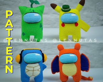 Amigurumi Patterns [Weird Characters in Astronaut Style] Bundle 4 ENGLISH PDF Files