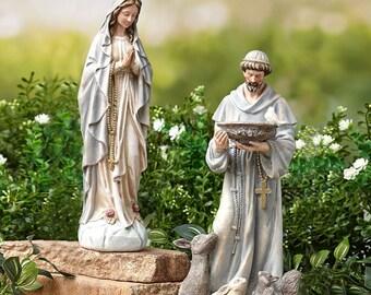 Mary Garden Statue Etsy