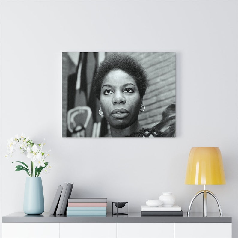 Ms Nina Simone Canvas Gallery Wraps