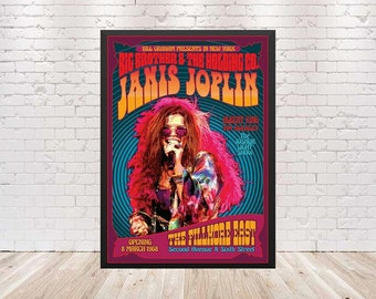 Elton John Vintage Fillmore East Concert Poster and Metal Art Reproduction Free US Shipping!