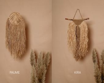 raffia wall decor – PAUME, KIRA | Macrame raffia wall hanging | Bohemian decor | Fibre art manufacture | Natural wall art | Made in UK |