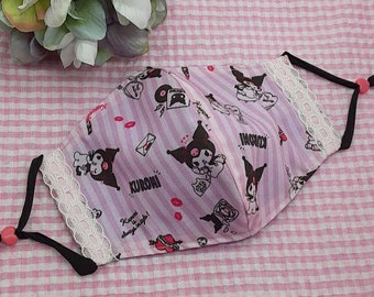 ONE to 3 day processing time! Cute kawaii charming bunny cotton face mask coverings