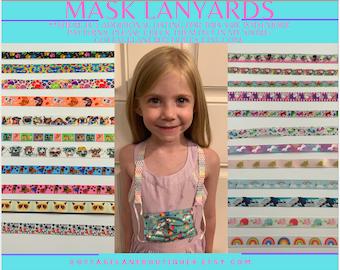 Kids mask lanyard,Mask lanyard, Mask Ribbon, Mask holder, Mask strap, Mask necklace,  Mask Adapter, Mask Keeper