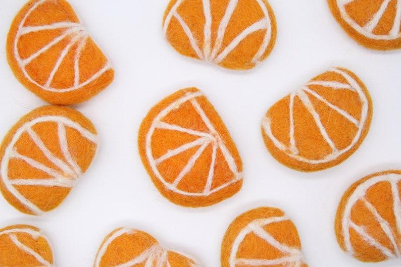 Sold Individually Fruit Craft Decoration Felt Craft Supply Felted Orange Slice 100/% Pure Wool Felted Orange Fruit 6cm x 4.5cm Approx
