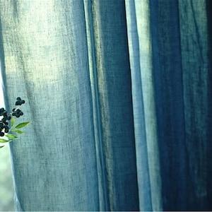 Tende blu grigio scuro per soggiorno tende rustiche in ...