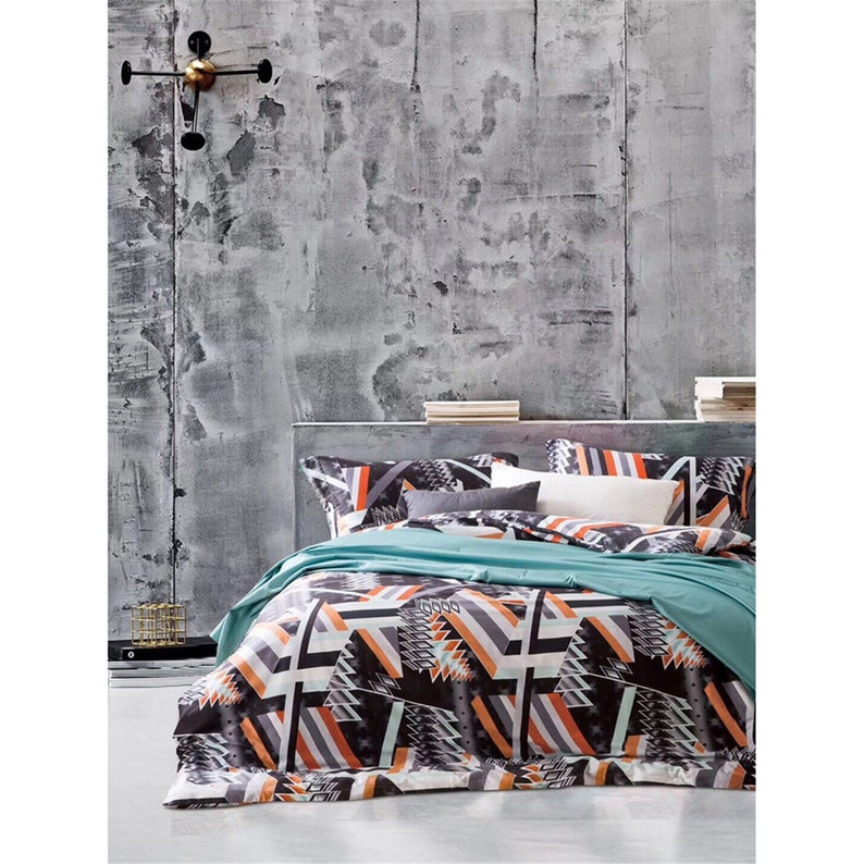 Black Matrix Geometry Pattern Quilt Cover Concise Design 3 Piece Comfort Duvet Cover 4 Seasons Bedding Sets Pillowcases Twin Queen King Size