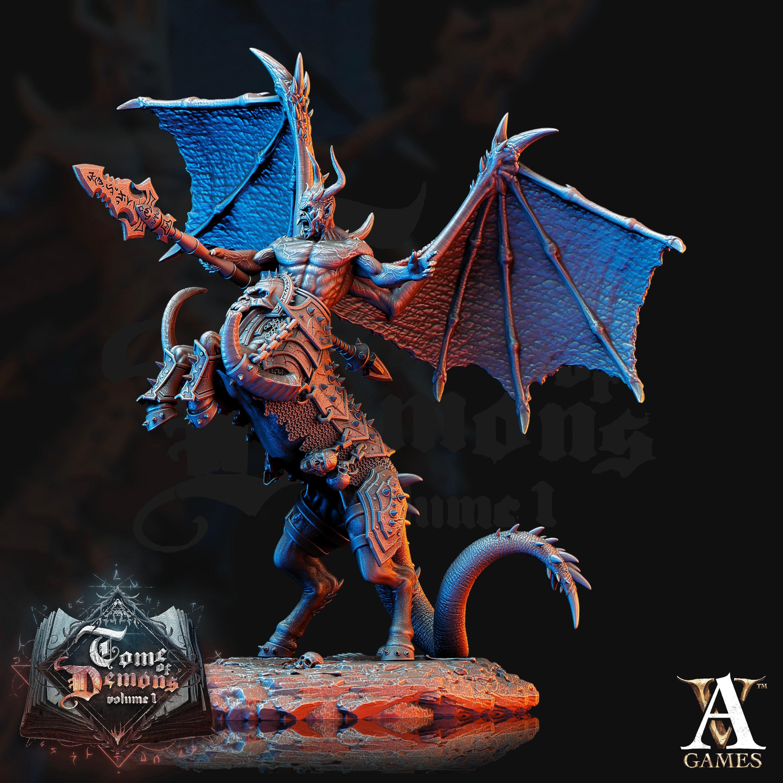 Gorknod-Devil Centaur Fantasy Miniature Warhammer D/&D Tabletop RPG Role Playing