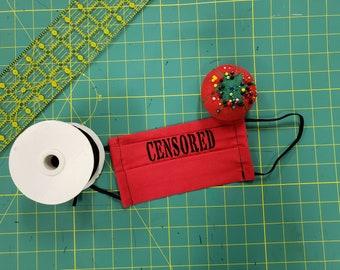 Double Layered, Washable & Reusable Censored Masks