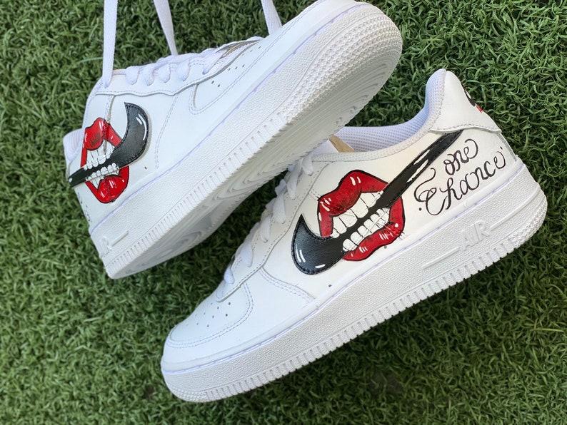 Nike Sneakers AF1 Air Force One Custom Lips h8XxVzIA