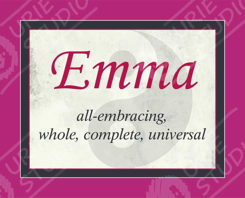 8x10 Emma Name Meaning Digital Print   Etsy