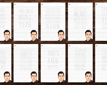 What David Said | David Rose Schitt's Creek Themed Notepad | (1) 30 page tear-off notepad | 10 different page quotes | 5.5in x 8.5in