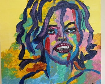 Abstract woman painting on Canvas
