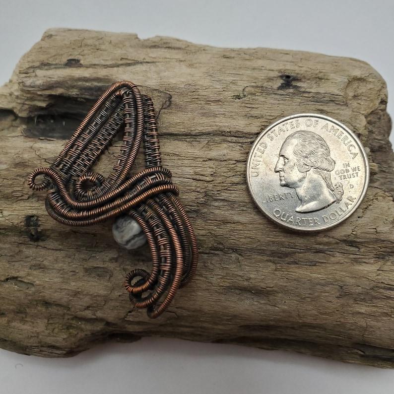 Copper Wire Weaving Wrapped Picasso Jasper Pendant