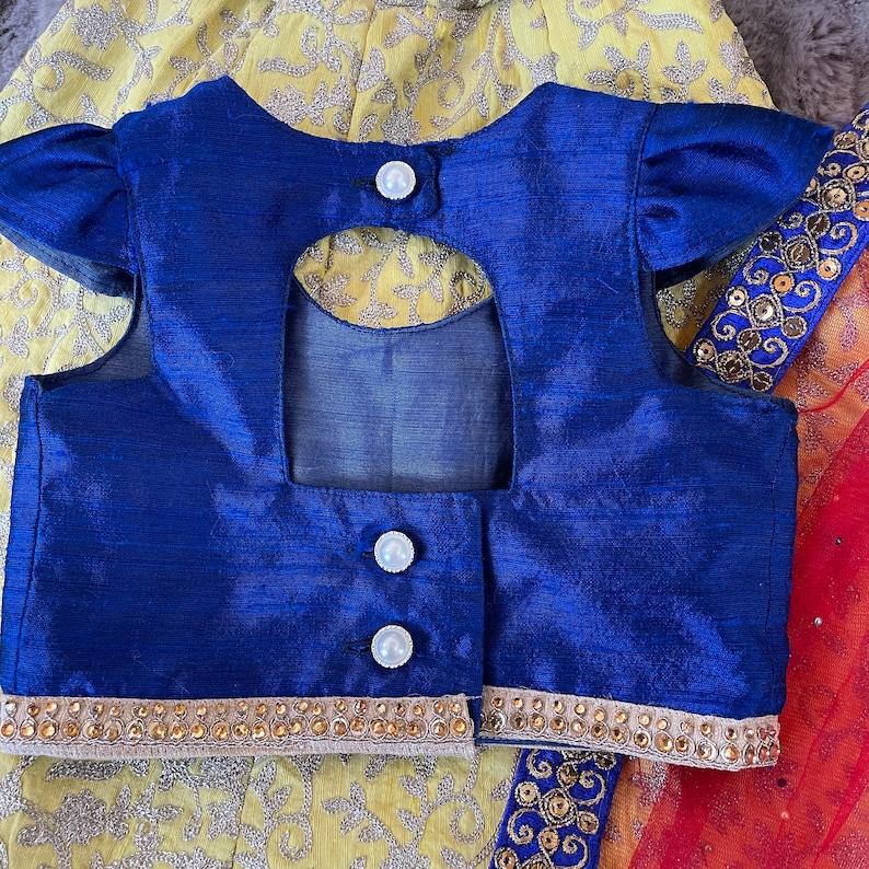 Girls Lehenga Choli-Snow White Dress-Stitched Indian Dress