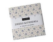 INDIGO GATHERINGS by Primitive Gatherings for Moda Fabrics Charm Packs 42 - 5 quot Squares