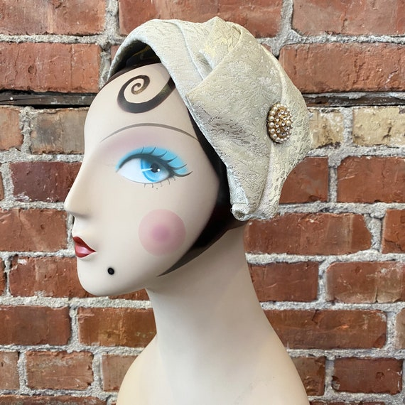50s Formal Calot Hat | Juliet Cap | Fine Maid Cali