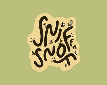 Dog does a Sniff Snoff Sticker