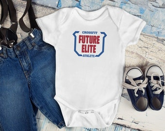 YELTY6F Future Crossfit Athlete Printed Newborn Infant Baby Boy Girl Jumpsuit Long Sleeve Rompers Black