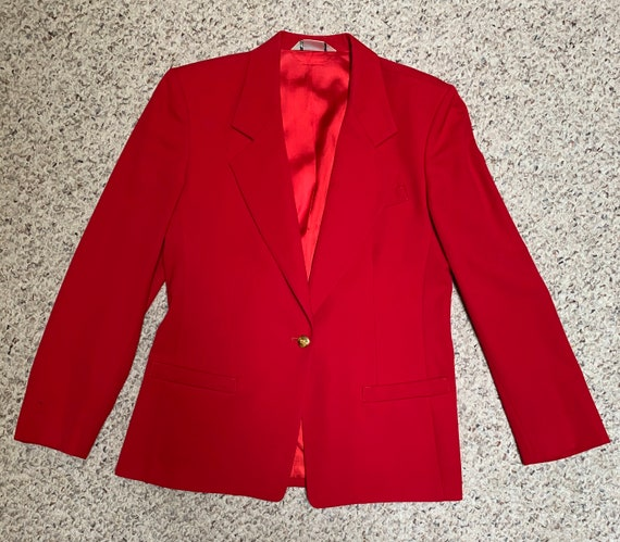 Austin Reed Red Suede Jacket Gem