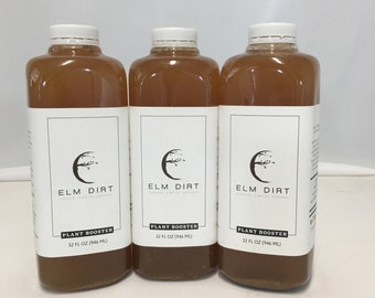 Elm Dirt's Plant Booster - Premium Brewed Organic Plant Food Made from Worm Castings - 32 oz can make up to 64 gallons of Worm Tea