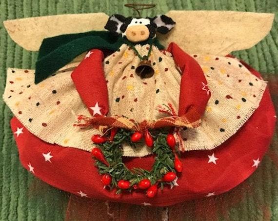 Mooey Christmas Cow Angel