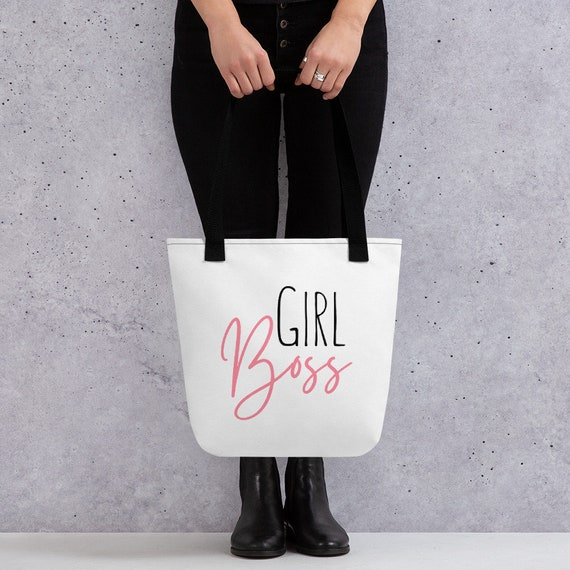 Girl Boss Tote Bag. Blogging gifts: Blogging Tote Bag Gift
