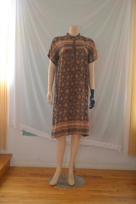 Vintage 1970's Indian Cotton Gauze Dress