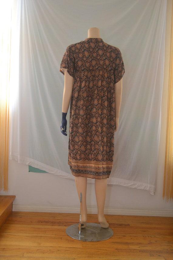 Vintage 1970's Indian Cotton Gauze Dress - image 3