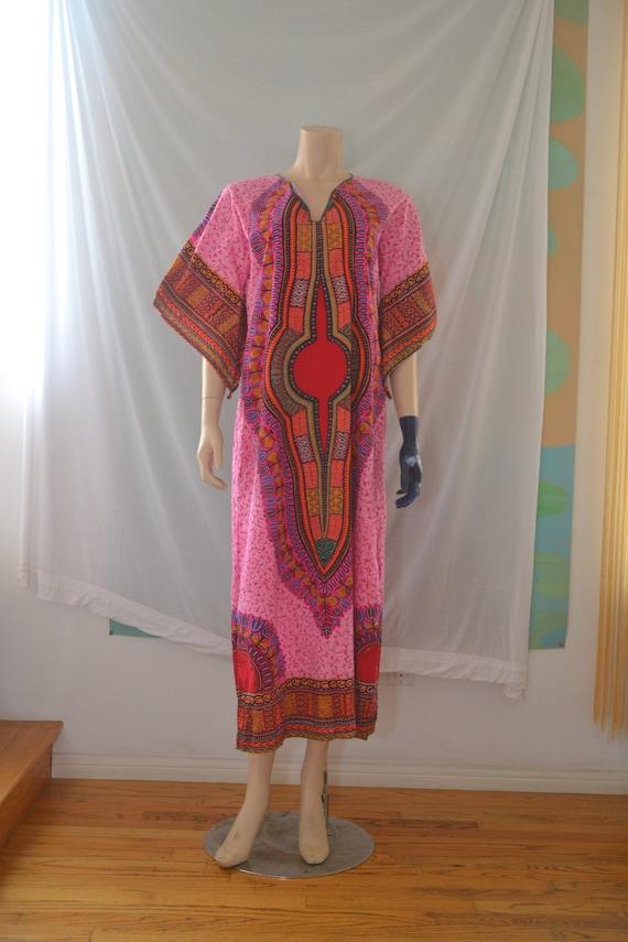 Vintage Pink Dashiki/Kaftan with Angel Sleeves, Ma