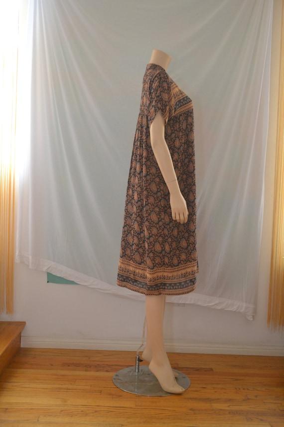 Vintage 1970's Indian Cotton Gauze Dress - image 2